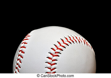 Baseball Closeup Isolated on Black