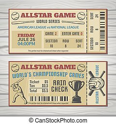 Baseball Competitions Tickets - Baseball competitions...