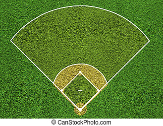 Baseball court. Top view field. Board background