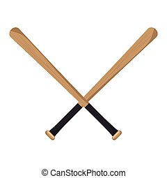 baseball crossed bats icons