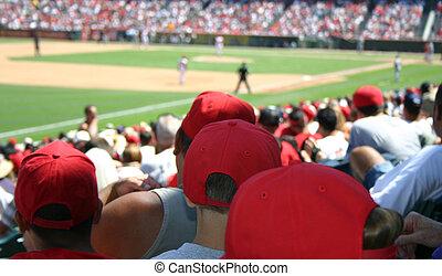 Baseball Crowd - A large crowd watching a baseball game.