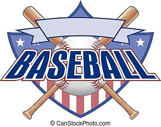 baseball, design, skydda
