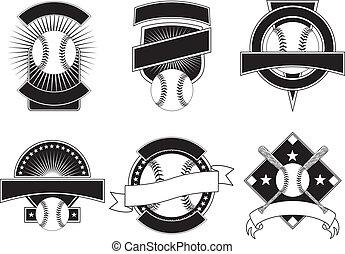 Baseball Design Templates - Illustration of six baseball ...
