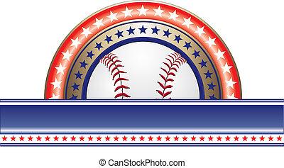 Baseball Design With Stars