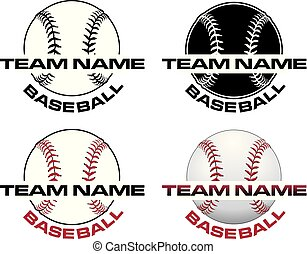 Baseball Designs With Team Name is an illustration of a four...