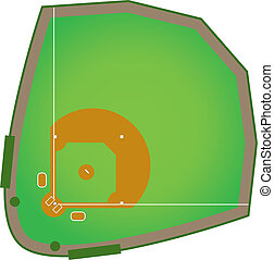Baseball Diamond - A realistic baseball diamond that would...