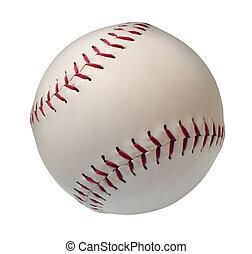 baseball, eller, isoltated, softboll