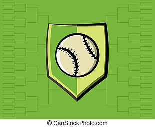 Baseball Emblem and Tournament Background