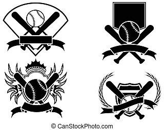 baseball emblem - isolated baseball emblem on white...