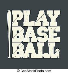 Baseball emblem for t-shirt - Baseball emblem - graphics for...
