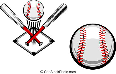 Baseball emblems set for sports design or mascot