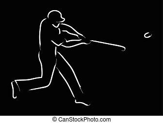 Baseball - Simple graphic of a pinch hitter in baseball...