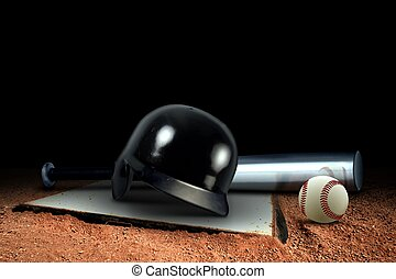 Baseball Equipment on the Field