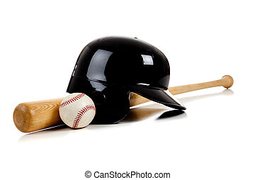 Baseball Equipment on White