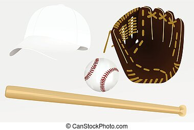 Baseball equipment vector