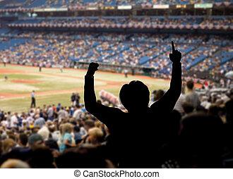 Baseball Fan Celebration