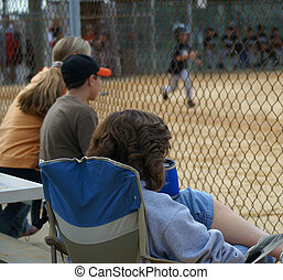 Baseball fans - Fans at a little league baseball game