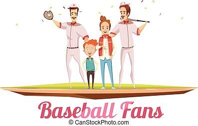 Baseball Fans Male Design Concept