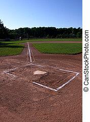 Baseball Field at Dusk