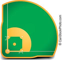 baseball field - detailed illustration of a baseball field...