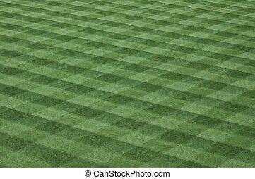 Baseball Field Grass Turf - Photographed grass turf field at...