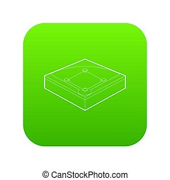 Baseball field icon green