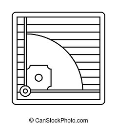 Baseball field icon, outline style