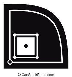 Baseball field icon, simple style - Baseball field icon....