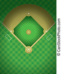An arial view of a baseball field illustration. Vector EPS 10 available. EPS contains transparencies.