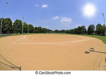 Baseball field on a summer day