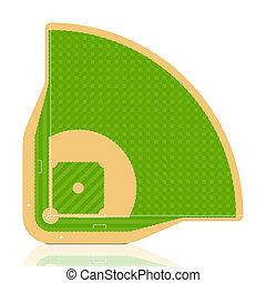 Baseball field - Vector. Detailed portrayal of grass.