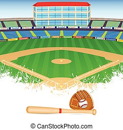 baseball field vector detailed portrayal of grass rh canstockphoto com clip art baseball field free free clipart baseball field
