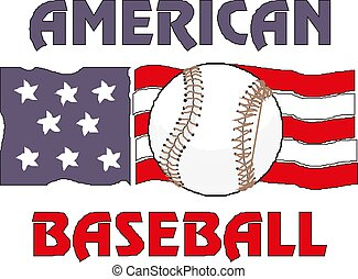 Baseball flag of USA. Vector EPS10 illustration.