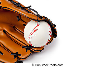 Baseball glove - Baseball isolated on white background