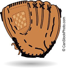 Baseball glove - brown leather baseball glove