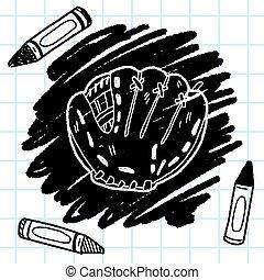 baseball glove doodle