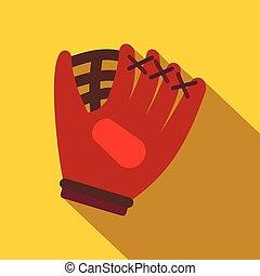 Baseball glove flat icon