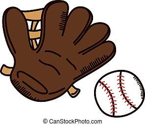 baseball glove league sport theme