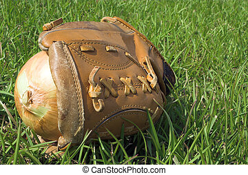 Baseball Glove & Onion
