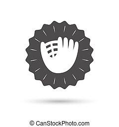 Baseball glove sign icon. Sport symbol.