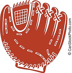 baseball glove vector icon