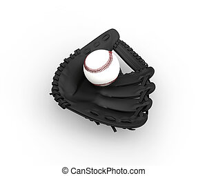 Baseball Glove with ball in it