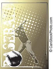 baseball golden poster background