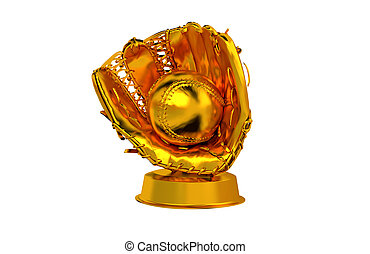Baseball Golden Trophy