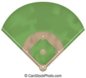 Baseball ground - Illustration of a baseball ground. Above...