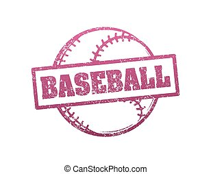 Baseball grunge style rubber stamp. Vector illustration.