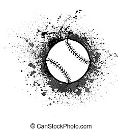 baseball, grunge, tło