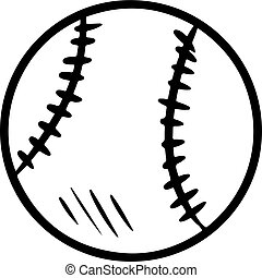 Baseball hand drawn isolated sketch. Cute doodle baseball