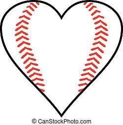 Baseball heart design vector illustration