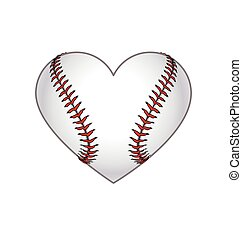 Baseball heart shape icon